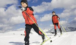 Children at cross-country skiing